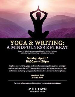 Poster image for Yoga & Writing: A Mindfulness Retreat
