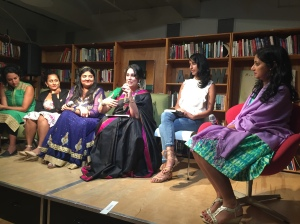 At the New York book launch for Good Girls Marry Doctors: South Asian American Daughters on Obedience and Rebellion, held at the Asian American Writers Workshop.